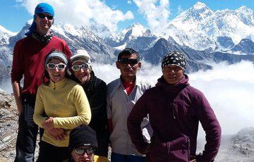 Top of the Renjo La 5300m, Everest Base Camp Trek via Gokyo & Cho La Pass