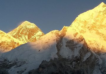 View from Kalapathar 5550m, Everest Base Camp Trek